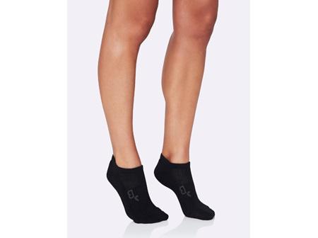 Boody Active Women's Rib/Mesh Socks Black 3-9