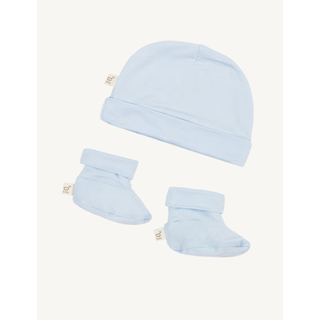 Boody Baby Beanie & Booties - 3-6 Months - Sky