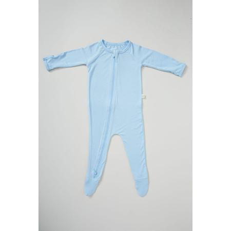 Boody Baby Long Sleeve Onesie - 0-3 Months - Sky