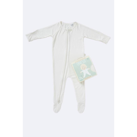 Boody Baby Long Sleeve Onesie - 6-12 Months - Chalk