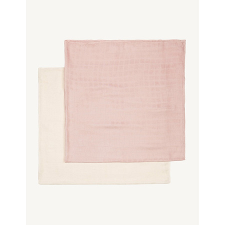 Boody Baby Muslin Wrap for Babies 2-Pack - Rose/Chalk