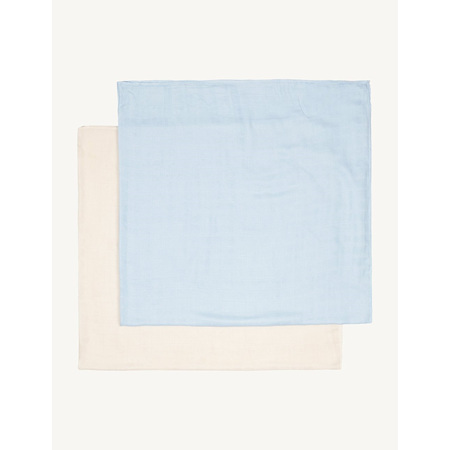 Boody Baby Muslin Wrap for Babies 2-Pack - Sky/Chalk