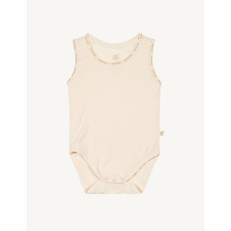 Boody Baby Sleeveless Bodysuit - 3-6 Months - Chalk