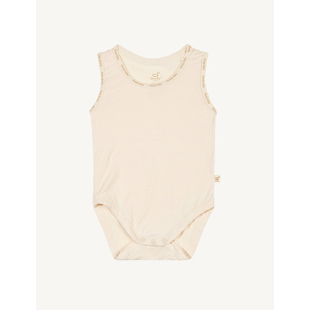 Boody Baby Sleeveless Bodysuit - 6-12 Months - Chalk