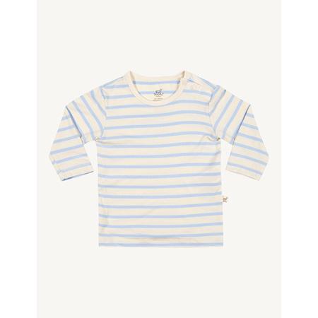 Boody Baby Stripe Long Sleeve Top - 6-12 Months - Chalk/Sky
