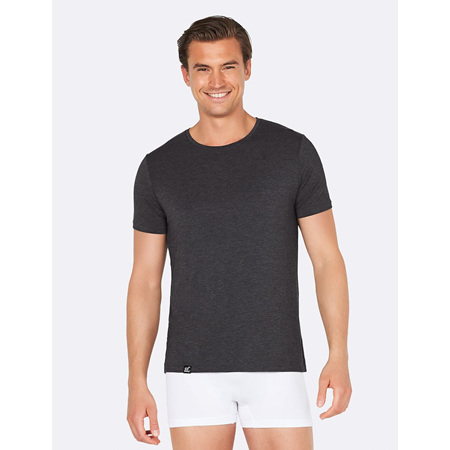 Boody Boody Men's Crew Neck T-Shirt Dark Marl - Small