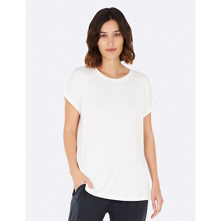 Boody Downtime Lounge Top - Medium - Natural White