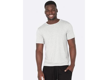 Boody Men's Crew Neck  T-Shirt Light Grey Marl Large