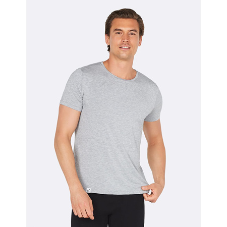 Boody Men's Crew Neck T-Shirt Light Grey Marle - Medium