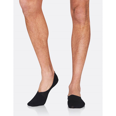 Boody Men's Hidden Socks Black - 6-11