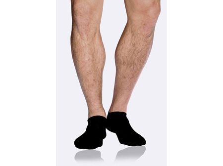 Boody Men's Low Cut Sneaker Socks Black  6-11