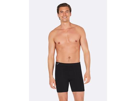 Boody Men's Mid Length Trunks Black Medium