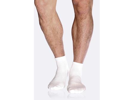Boody Men's Sport Ankle Socks White 11-14