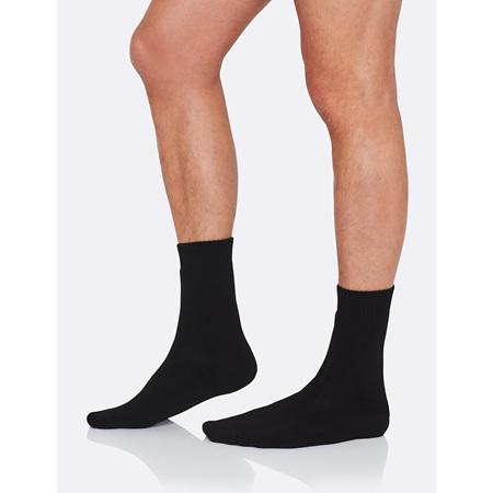 Boody Men's Work / Boot Socks Black - 11-13