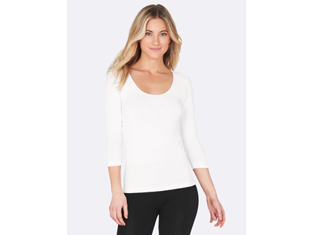 Boody Women's 3/4 Sleeve Top White Small