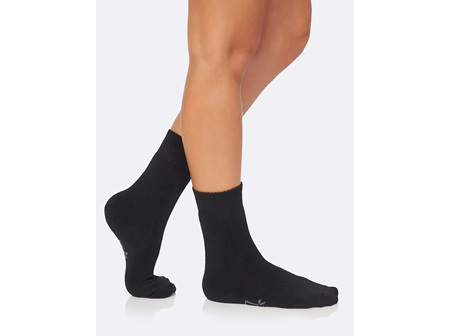 Boody Women's Crew Boot Sock Black 3-9