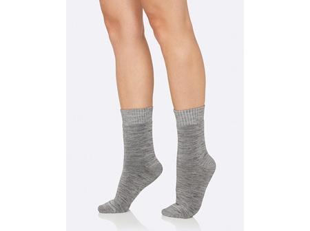 Boody Women's Crew Boot Sock Grey Space Dye 3-9
