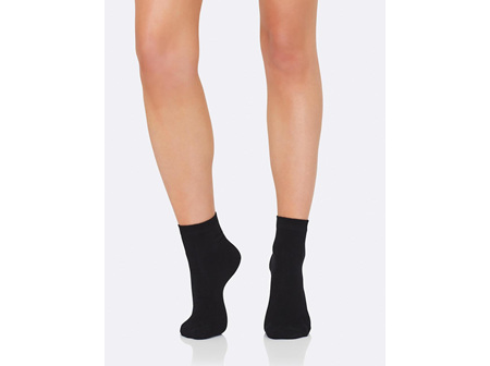 Boody Women's Everyday Ankle Sock Black 3-9