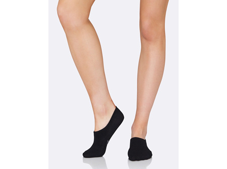 Boody Women's Hidden Socks Black 3-9