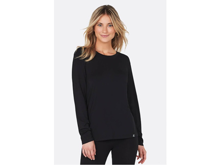 Boody Women's Long Sleeve Round Neck Top Black Large