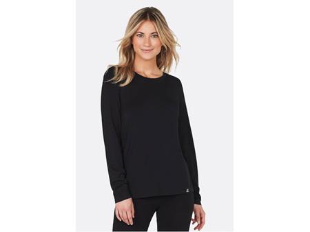 Boody Women's Long Sleeve Round Neck Top Black Medium