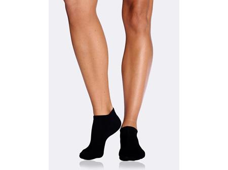 Boody Women's Low Cut Sneaker Socks Black 3-9