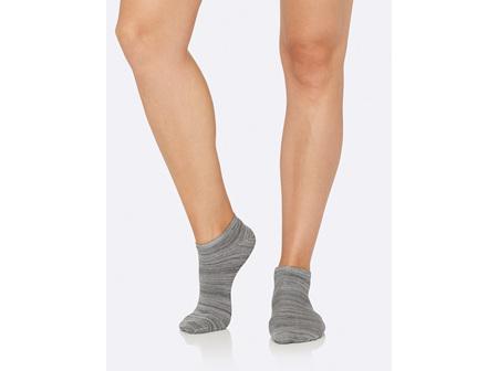 Boody Women's Low Cut Sneaker Socks Grey Space Dye 3-9