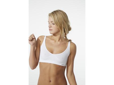 Boody Women's Shaper Crop Bra White Large
