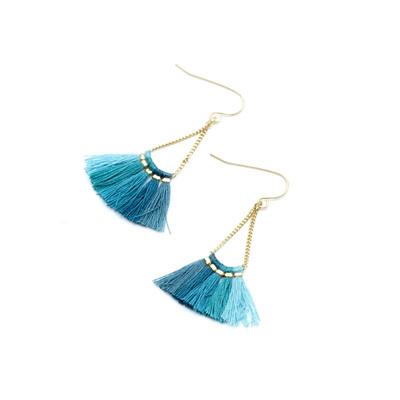 Borla Earrings - Blue