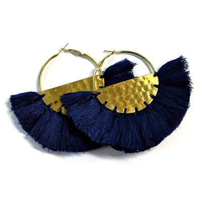 Borla Earrings - Navy