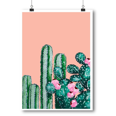 Botanical Cactus A4 Print