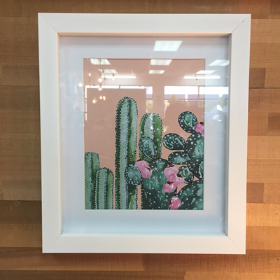 Botanical Cactus Framed Print