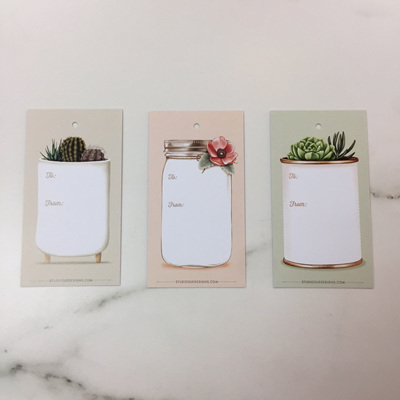Botanical Planters Gift Tags