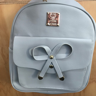 Bow Knot Back pack - Grey