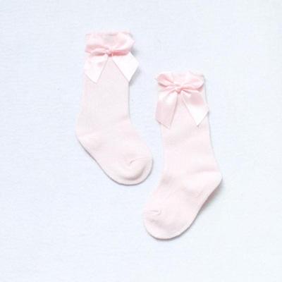 Bow Side Knee High Socks - Blush
