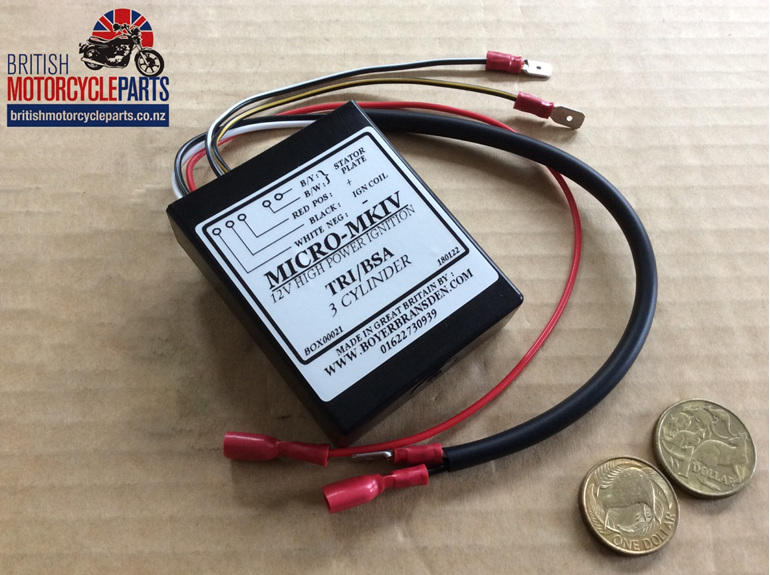 Boyer Micro MKIV Ignition Box Triumph BSA Triples - British Motorcycle Parts NZ