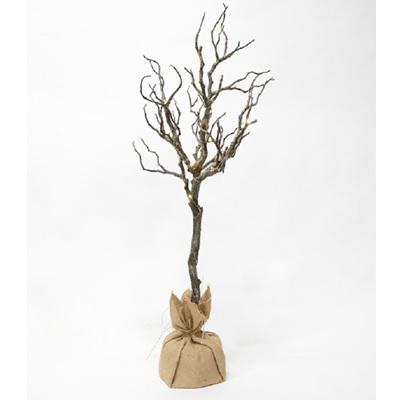 Branch Tree w/Burlap Bag - Large