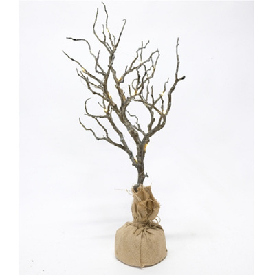 Branch Tree w/Burlap Bag - Small