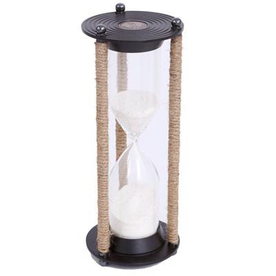 Brass Hourglass with Twine - Medium
