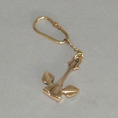 Brass Key Ring - Anchor