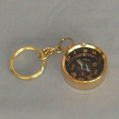 Brass Key Ring - Compass