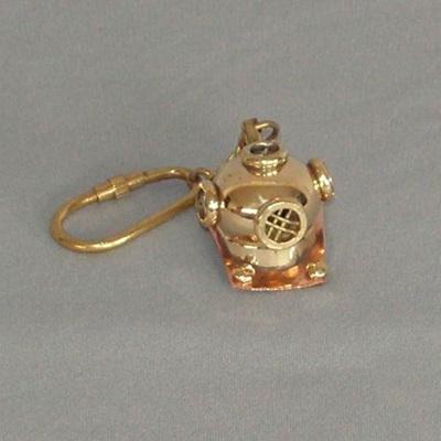 Brass Key Ring - Deep Sea Diver