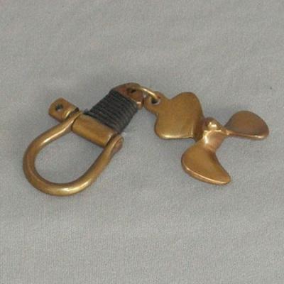 Brass Propeller Key Ring