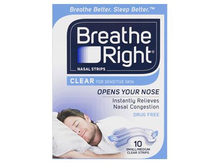 Breathe Right Clear Medium Nasal Strips 10s