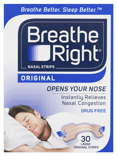 Breathe Right Original Large Nasal Strips 30s