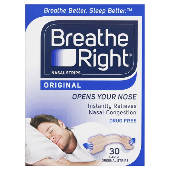 Breathe Right Original Large Nasal Strips 30s