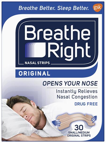 Breathe Right Original Nasal Congestion Stop Snoring Strips Regular Size 30s