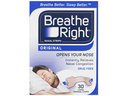 Breathe Right Original Nasal Congestion Stop Snoring Strips Large Size 30s
