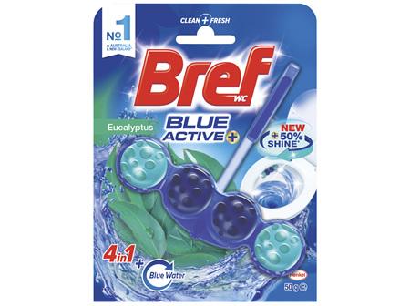 Bref Blue Active Eucalyptus, Rim Block Toilet Cleaner, 50g