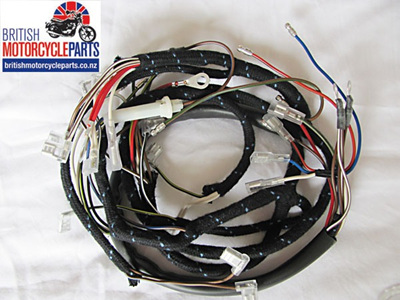 BSA A50 A65 Wiring Loom 1968-69 - No Oil Light Switch